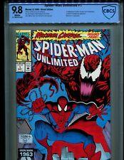 SPIDER-MAN UNLIMITED 1 CBCS 9.8 W PGS! 1ST SHRIEK! MAXIMUM CARNAGE! LIKE CGC!!!!
