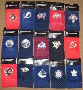 NHL TEAMS GOLF TRI FOLD TOWEL Embroidered
