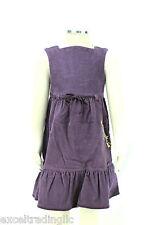 JACADI Girls Razzia Purple Corduroy Dress with Detailing SZ 6 Years NWT $90