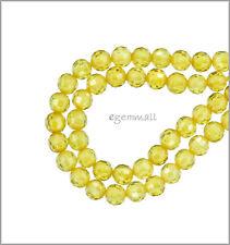 16 Cubic Zirconia Round Beads 4mm Yellow #64753