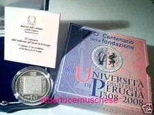 10 euro Italia 2008 argento PROOF 7° Università Perugia