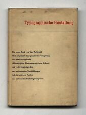 1935 Jan Tschichold TYPOGRAPHISCHE GESTALTUNG New Typography First edition w/ DJ
