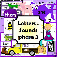 Letters and Sounds Phase 3  resource phonics literacy EYFS KS1 childminder on CD