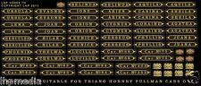 TRIANG HORNBY GOLDEN ARROW PULLMAN CAR NAMES / No's RENAMING KIT LHP HD064A