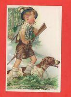 Pequeño cazador y su perro (J4714)