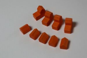 Settlers of Catan game replacement parts orange cities and settlements