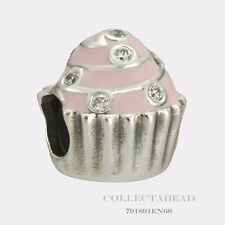 Authentic Pandora Sterling Silver Sweet Cupcake Bead 791891EN68