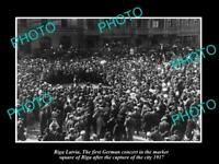 OLD POSTCARD SIZE MILITARY PHOTO WWI RIGA LATVIA THE GERMAN TOWN CONCERT 1917