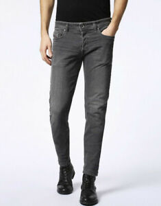 DIESEL SLEENKER 0678z STRECH Men's Denim Jeans SLIM SKINNY Dark Grey RRP £160