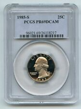 1985 S 25C Washington Quarter Proof PCGS PR69DCAM