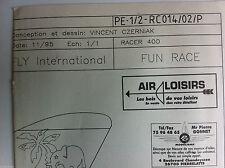 """15)Plan Avion Modèlisme """"FUN RACE"""" Racer 400"""