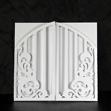 Gate and Floral Gatefold Design Card Cut Square Blank Greeting Card