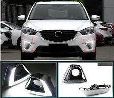 For MAZDA CX-5 12-16 Mustang Style LED DRL Front Daytime Running Light Turn Lamp