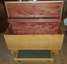 Vintage LANE Cedar Chest w Bottom Drawer RETRO Look LOCK REMOVED Nice Condition