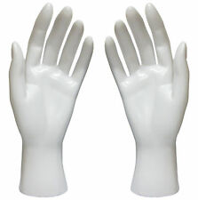 Mn-HandsF-Wf Pair Of White Left & Right Female Mannequin Hands (White Only)