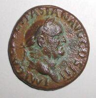 Ancient Roman Empire, Vespasian, 71 AD. Aequitas. Bronze Coin