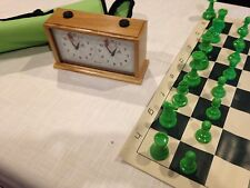 Insa Chess Clock, Travel Chess Set and Carry Case