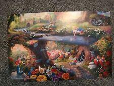 Thomas Kinkade Studios (Disney) Postcard Alice in Wonderland