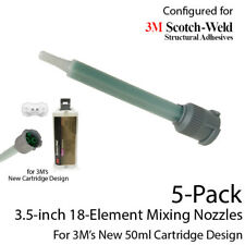 Mixing Nozzles 5-Pack-fits 3M Epx 50ml Cartridges (Shorter 3.5in, 1:1 & 2:1)