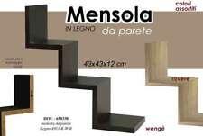 MENSOLA ASSORTITA 59*12*12 PARETE LEGNO SCALA KIT MONTAGGIO ZIG ZAG 650338