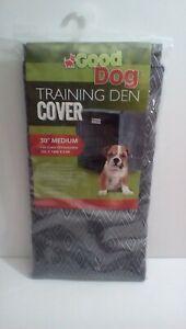 Good Dog Training Den Cover, 30 in Medium Gray New