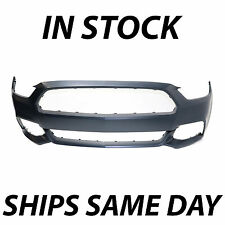 NEW Primered - Front Bumper Cover Fascia Replacement for 2015 2016 Ford Mustang