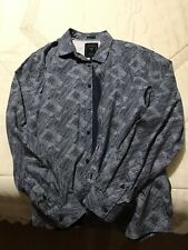 Mens Guess Casual Slim Fit Dress Shirt Size Large