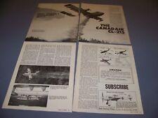 VINTAGE..CANADAIR CL-215..HISTORY/3-VIEWS/CUTAWAY. .RARE! (306G)