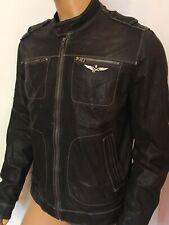 Men's Aeronautica Militare leather jacket  Size-56/XL