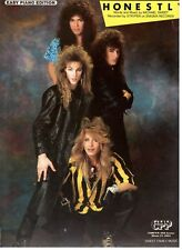 "STRYPER ""HONESTLY"" SHEET MUSIC-EASY PIANO-1986-RARE-NEW ON SALE-MINT CONDITION!!"