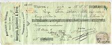 TRAITE 1910 THIERS MANUFACTURE DE VETEMENTS BOURGADE BARDONNET NER TIMBRE FISCAL