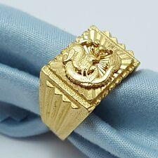 Beautiful 24K Karat 9999 Solid Yellow Gold Designer Adjustable Dragon Mens Ring