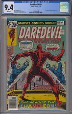 Daredevil #134 CGC 9.4 NM Wp Chameleon & Torpedo Marvel Comics 1976 Bronze Gem