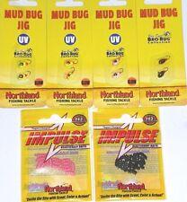 Northland Tackle 1/72 Panfish Mud Bug Jigs & Impulse Waxy Baits (Lot of 6-MBI1)
