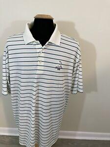 Peter Millar Polo Shirt Short Sleeve Pinehurst Summer Comfort Golf Med Blue