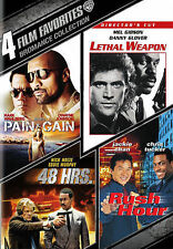 NEW 4 FILM BROMANCE DVD PAIN GAIN LETHAL WEAPON 48 HRS RUSH HOUR FREE 1STCLS S&H