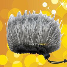 Gray Fur Mic Windscreen Wind Cutter ZOOM H2N H4N Q2HD Q3 Q3HD DR40 DR100 PCM-D50
