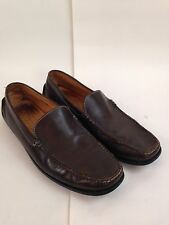 Tods Mens US 10 Gommimo Hand Stitched Driving Moccasins Brown Leather $495