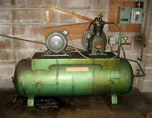 AIR COMPRESSOR,  80 GALLON TANK,  2HP 230V MOTOR  with electrical controls