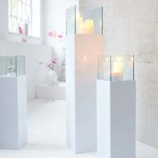 Windlichtsäule Glossy Bodenwindlicht Kerzenhalter Wohnzimmerdeko groß 120 cm