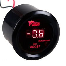 "2"" 52mm Car Motor Digital Red LED Bar Turbo Boost Gauge LED Meter Universal"