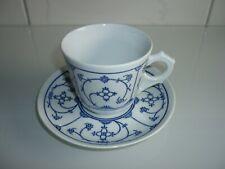 weiß Porzellan Kaffeetasse Jäger Eisenberg Indisch blau Strohblume