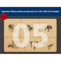 LIANG-0005 Special Splashes Effects Airbrush Stencils Tools for 1/35 1/48 Model