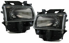 BLACK SMOKE finish H4 HEADLIGHTS FOR VW T4 Bus Caravelle Multivan 96-03