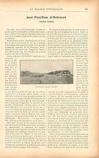 Fouilles Archéologique nécropole copte d'Antinoë Égypte GRAVURE OLD PRINT 1900