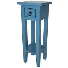 KMH® Telefontisch Telefonkonsole Blumentisch Beistelltisch Tisch Holz blau