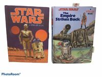 Lot of 2 Star Wars Empire Pop-Up Books Vintage Wayne Douglas Barlowe 1078 r