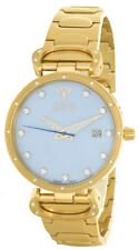 Aqua Master Womens Pearl Dial Gold Tone Stainless Steel Bracelet Watch W#359_2