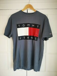 Tommy Hilfiger Jeans Flag Logo T-shirt, Regular Fit, Size XXS, Blue Petrol