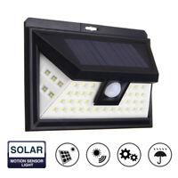 44 LED Solarleuchte Solar Lampe Bewegungssensor Wandlampe Außenlampe Wasserdicht